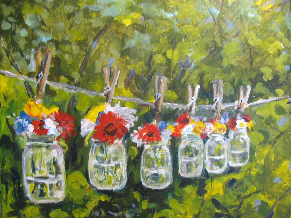 """Clothesline Decor"" original fine art by Susan Elizabeth Jones"