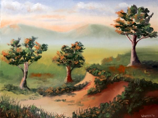 """""""Mark Adam Webster - Foothill Sunset Landscape Oil Painting"""" original fine art by Mark Webster"""