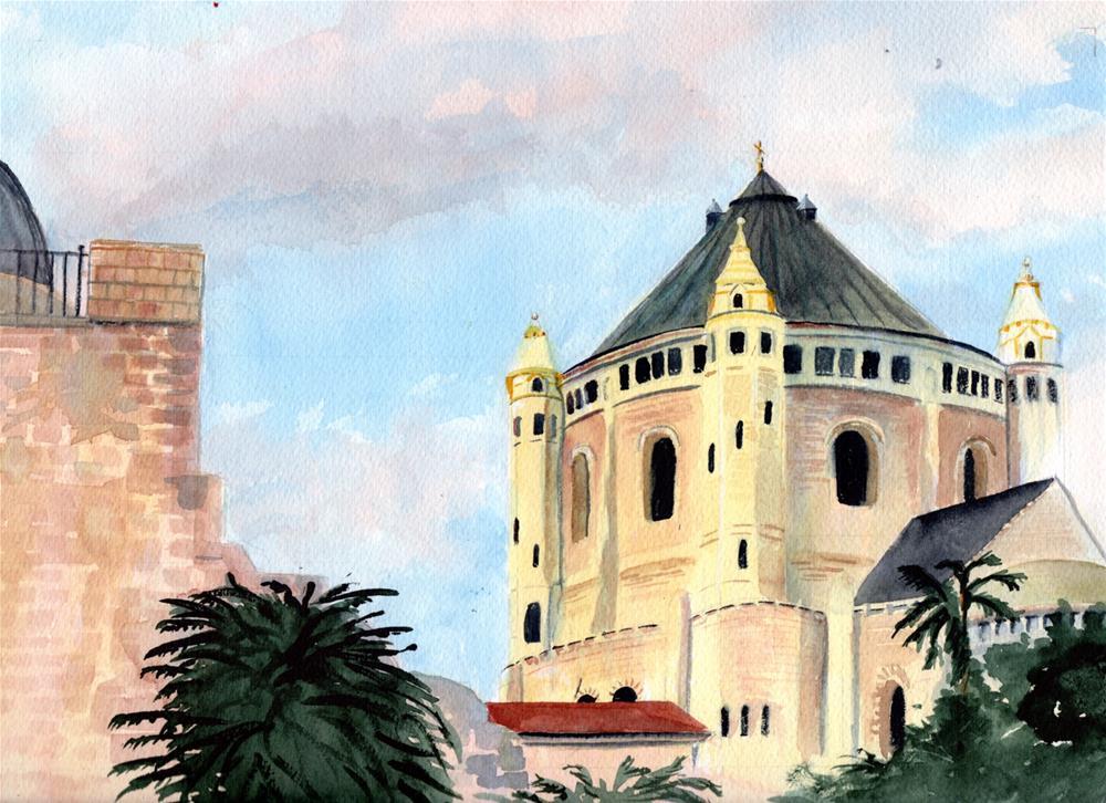 """""""Jerusalem Old City"""" original fine art by Bunny Griffeth"""