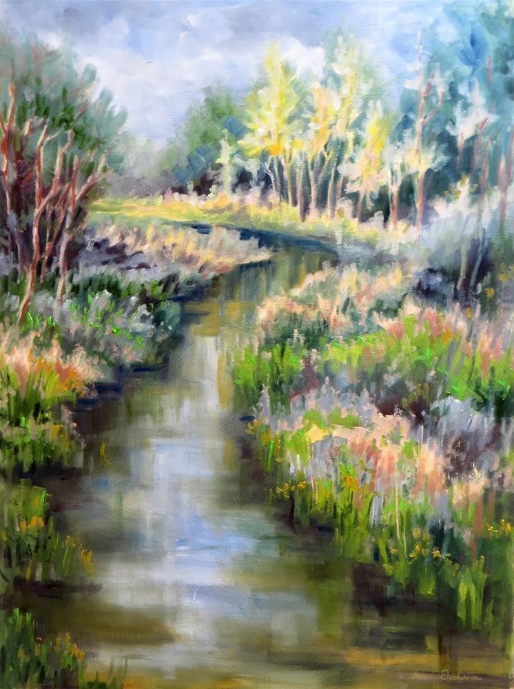 """""""Return to Reibolt's Creek"""" original fine art by Tammie Dickerson"""