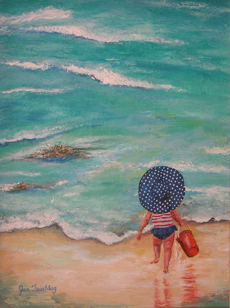"""Polka dot hat"" original fine art by Janice Freischlag"