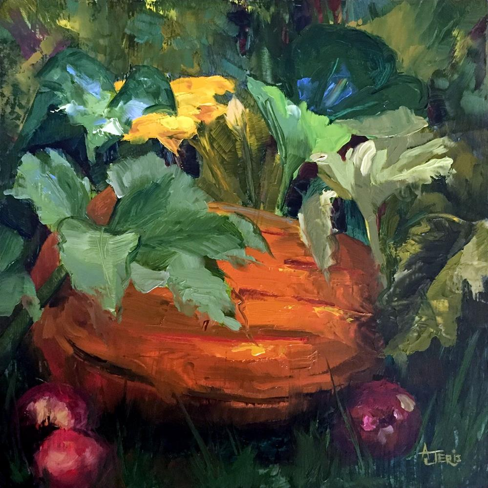 """At the Pumpkin Patch"" original fine art by Andrea Jeris"