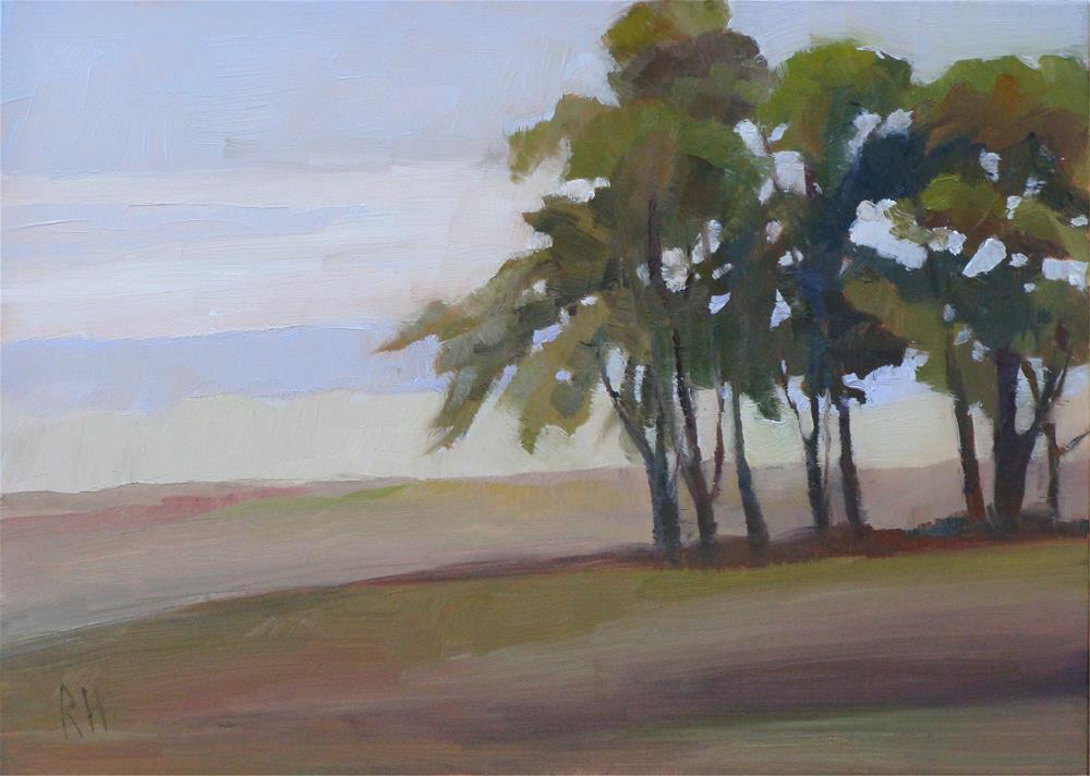 """Sentries on the Hill"" original fine art by Rebecca Helton"