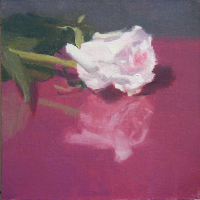 """ROSE ON ROSE"" original fine art by Helen Cooper"