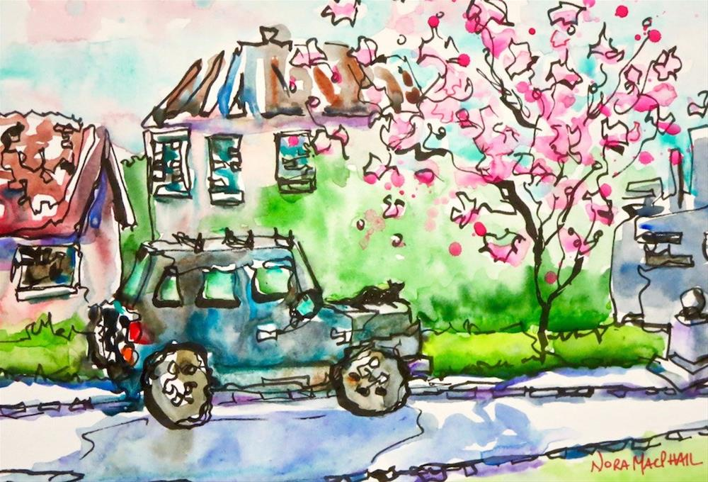 """""""blossoming"""" original fine art by Nora MacPhail"""