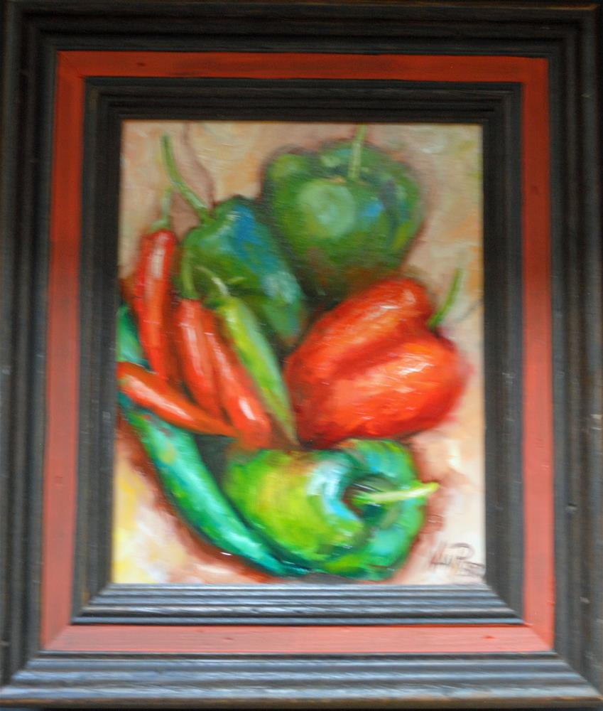 """""""Peppers"""" original fine art by Nan Perry"""