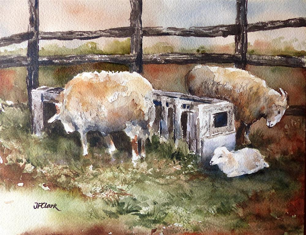 """Little Lamb"" original fine art by Judith Freeman Clark"