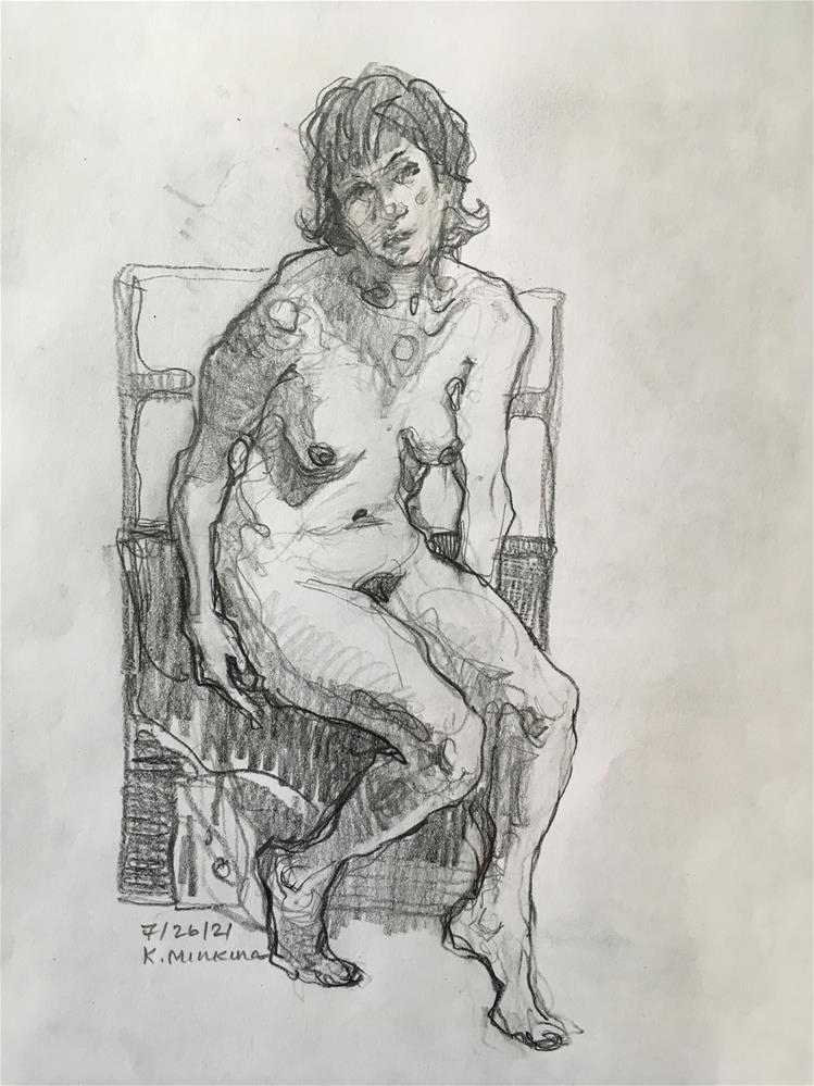 """Figure72"" original fine art by Katya Minkina"