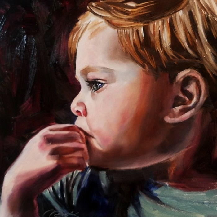"""Lost in Thought"" original fine art by Crystal Cook"