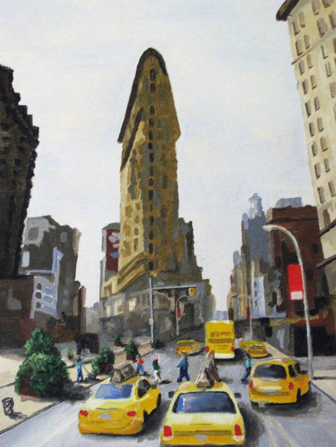 """FlatIron Building"" original fine art by Nan Johnson"