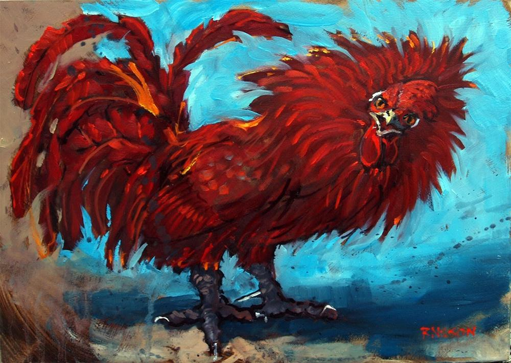 """""""Mad on Rooster"""" original fine art by Rick Nilson"""