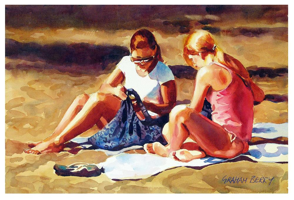 """""""A day on the beach."""" original fine art by Graham Berry"""