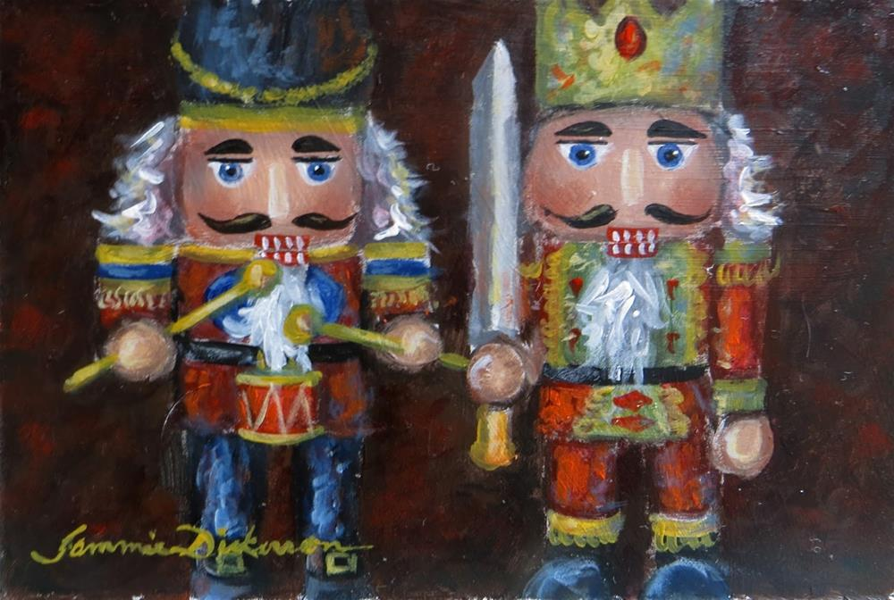 """Knight and Drummer Nutcrackers"" original fine art by Tammie Dickerson"