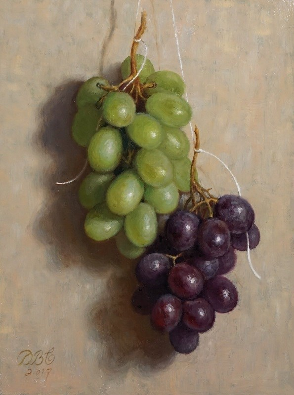 """Suspended Grapes II"" original fine art by Debra Becks Cooper"