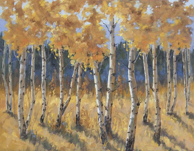 """""""Falling Shadows"""" original fine art by Bonnie Bowne"""