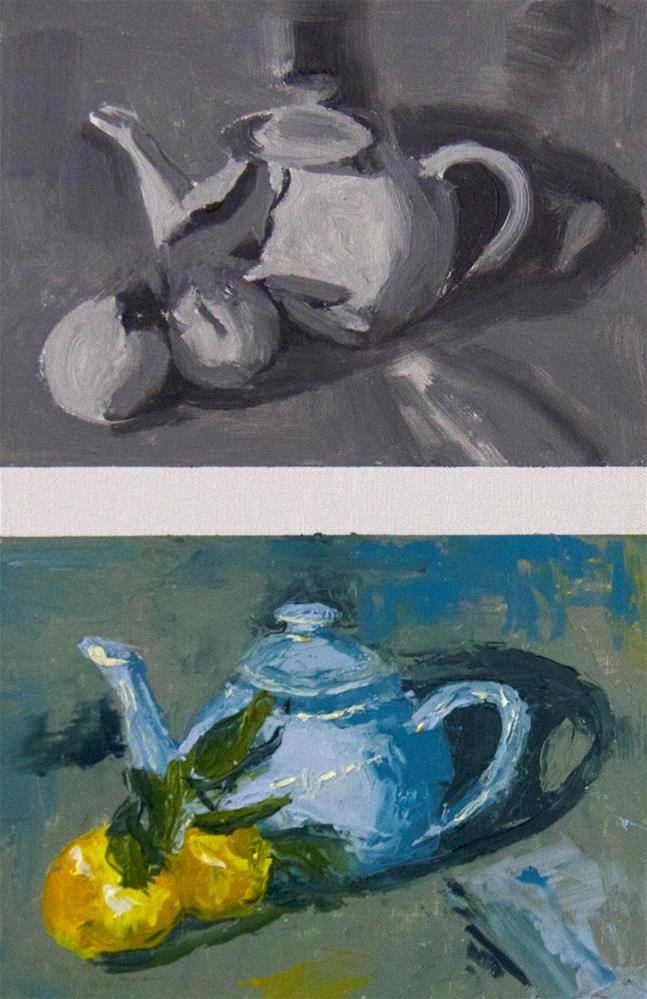 """Lemon Tea - Day 3"" original fine art by Daryl Lyn King"