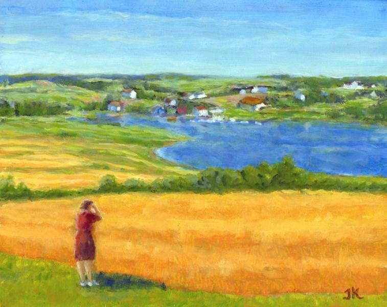 """Tourist View"" original fine art by J Kelsey"