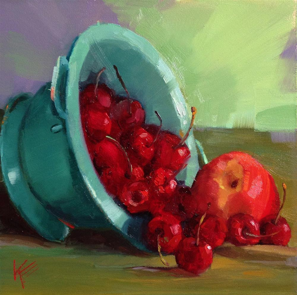 """Washington Cherries"" original fine art by Krista Eaton"