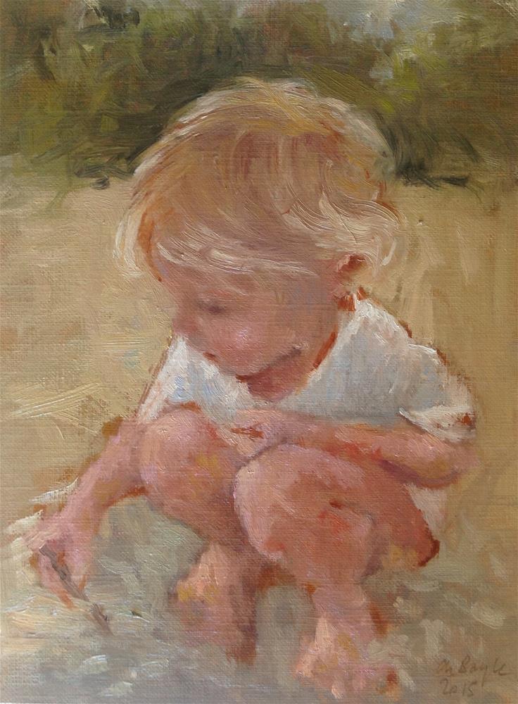"""Sweet story"" original fine art by Christine Bayle"