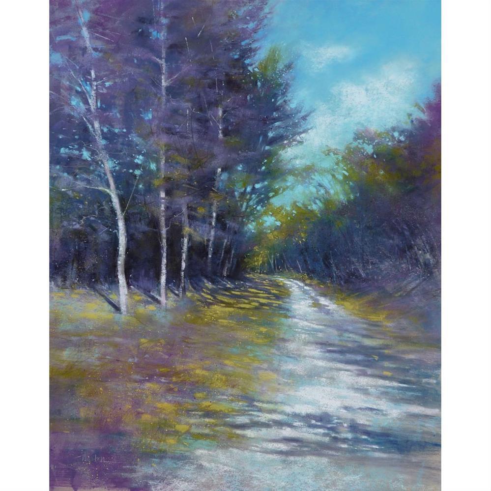 """September Side Road"" original fine art by Barbara Benedetti Newton"