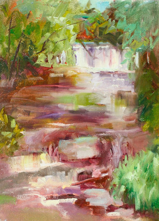 """""""Peace Like River"""" original fine art by Pamela Sweet"""