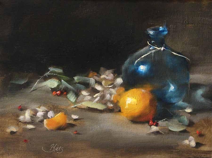 """Orange Reflections"" original fine art by Pamela Blaies"