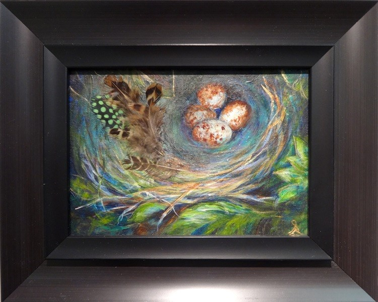"""3230 - Framed - Designer Nest - Black Frame"" original fine art by Sea Dean"