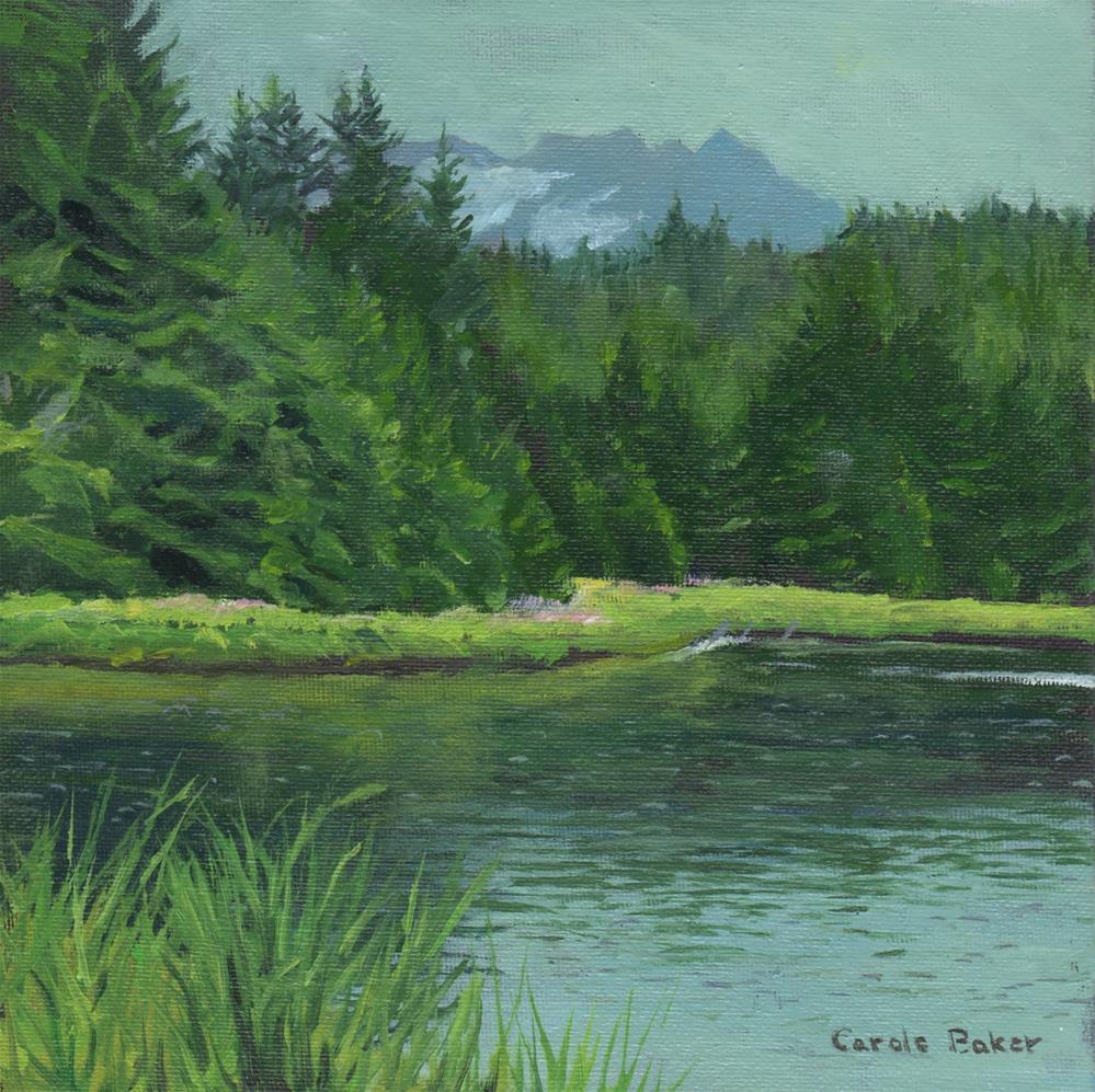 """""""Salt Chuck"""" original fine art by Carole Baker"""