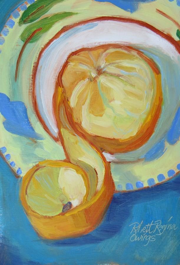 """""""Orange Spiral"""" original fine art by Rhett Regina Owings"""