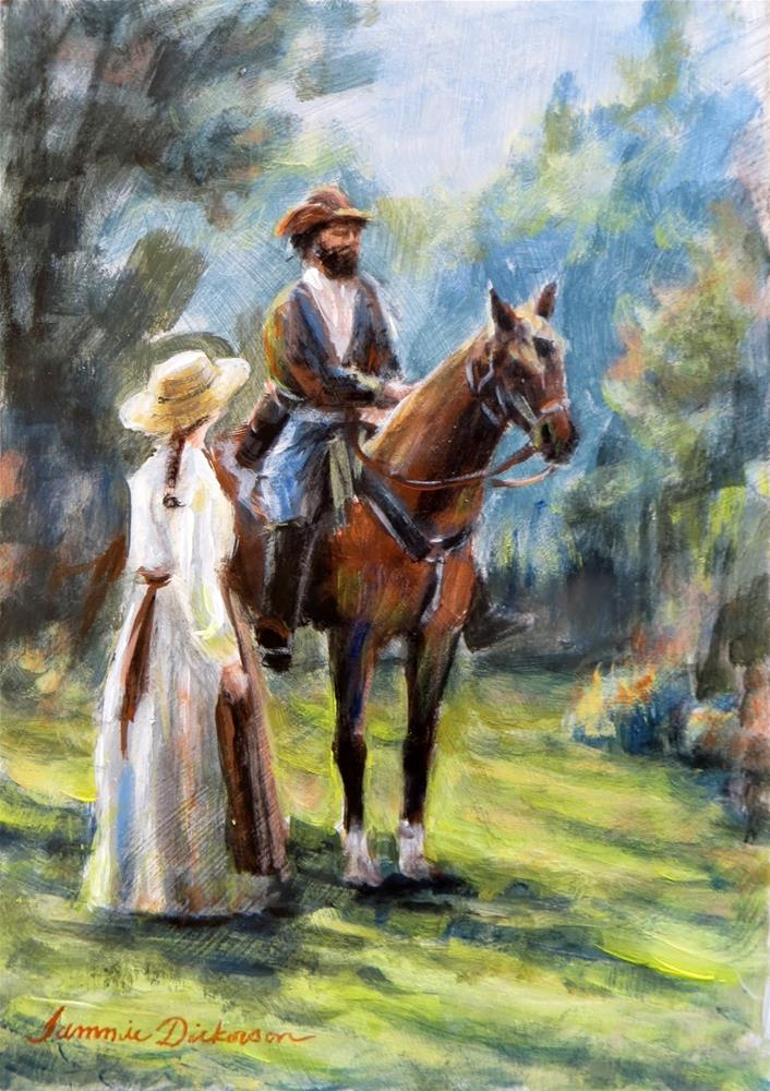 """""""Greeting the Rider"""" original fine art by Tammie Dickerson"""