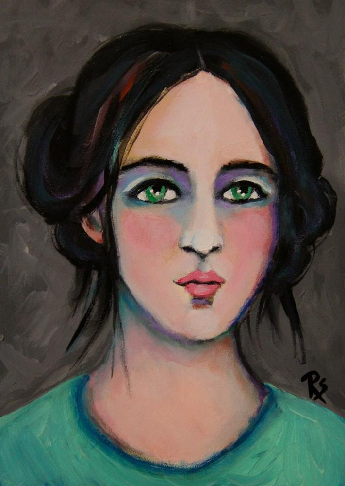 """Maryl"" original fine art by Roberta Schmidt"