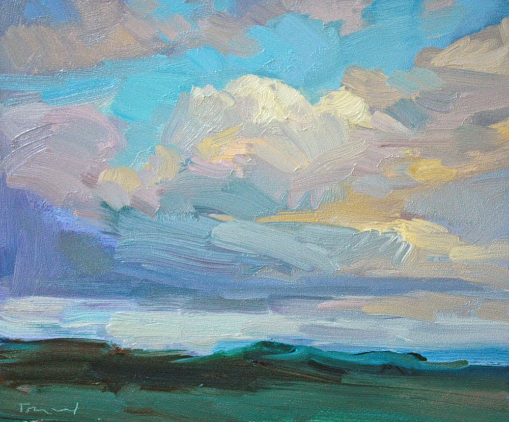 """Clouds and Sunlight"" original fine art by Kathryn Townsend"
