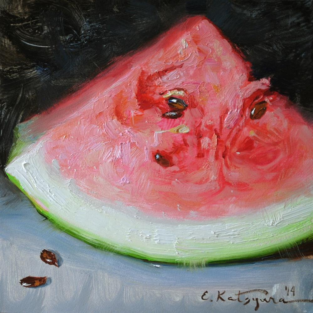 """Watermelon"" original fine art by Elena Katsyura"