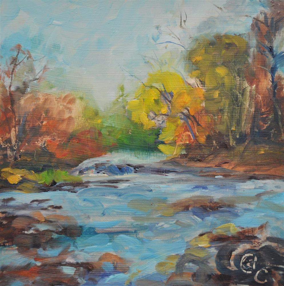 """Gurgling Waters"" original fine art by Catherine Crookston"