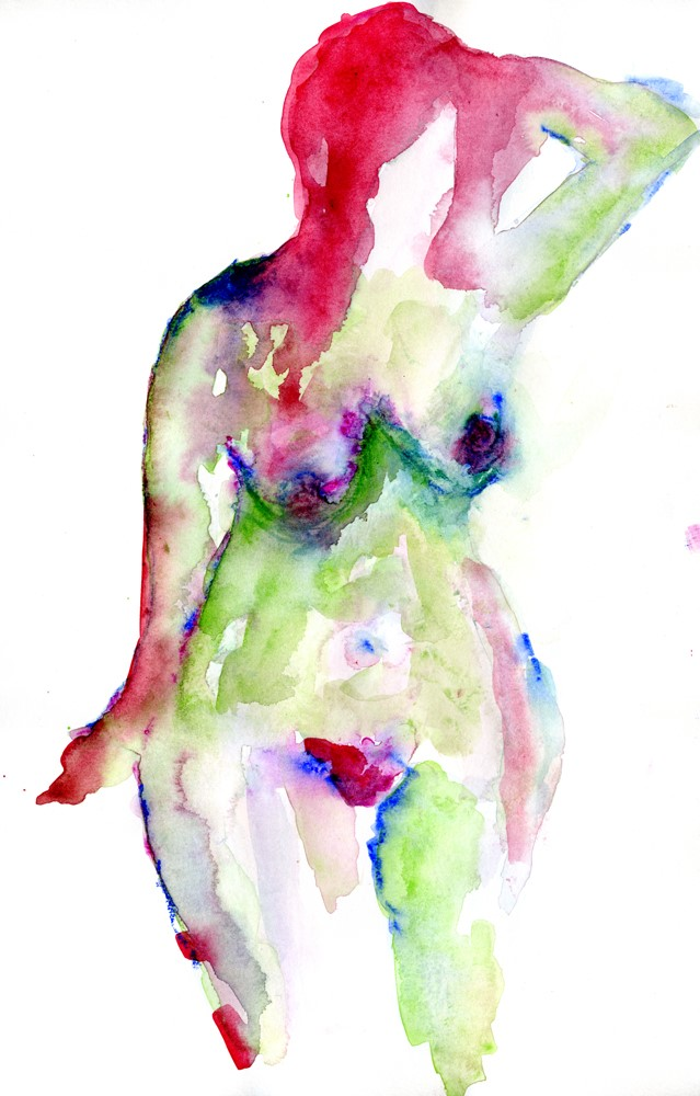 """""""She Owns her Curves"""" original fine art by Kali Parsons"""