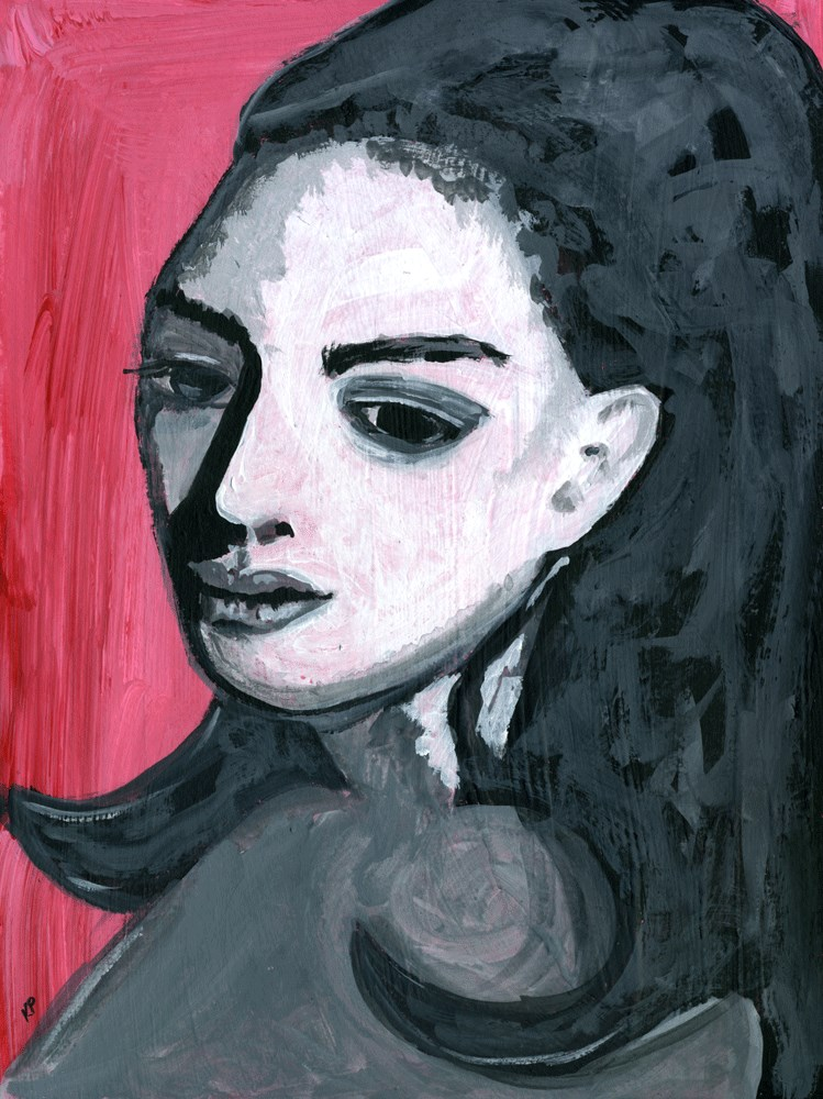 """""""Lost in Thought"""" original fine art by Kali Parsons"""