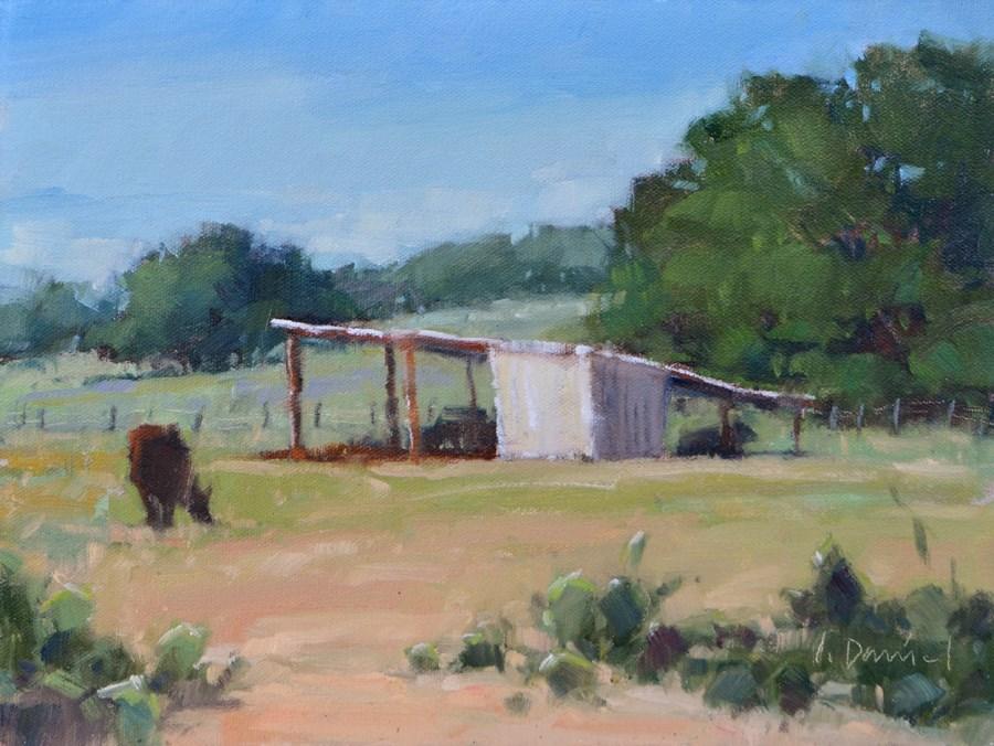 """Fall Pasture - 3rd Place Winner at Kerrville Outdoor Painting Event!"" original fine art by Laurel Daniel"