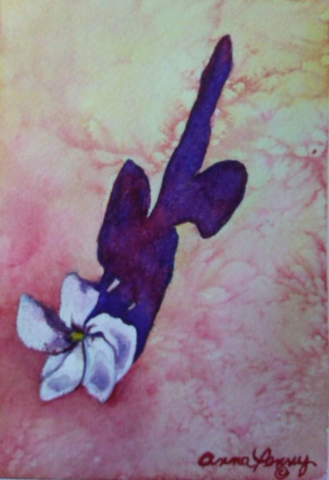 """""""Vinca Shadows"""" original fine art by Anna Penny"""