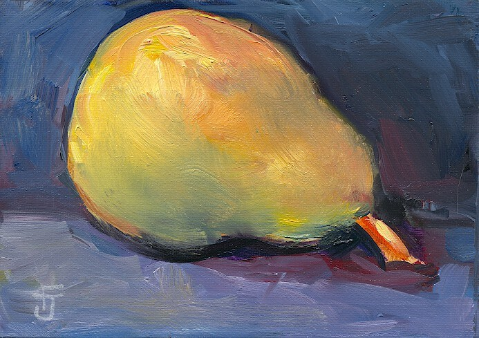 """Reclining Pear"" original fine art by Francine Dufour~Jones"