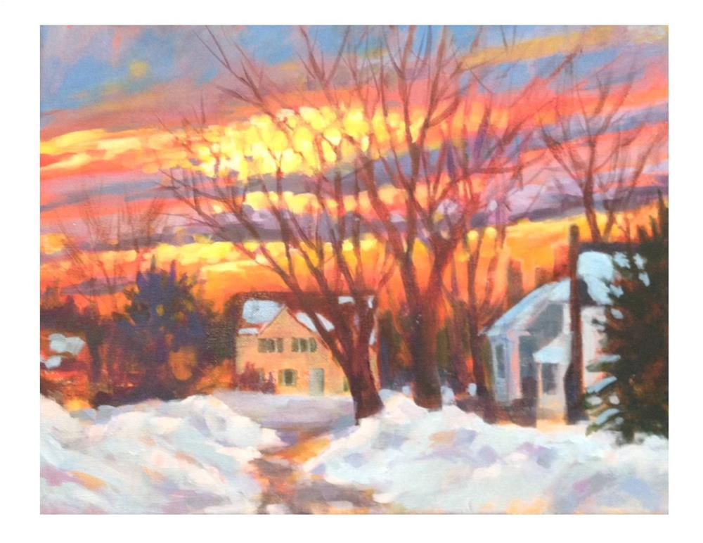 """""""Another Day Done"""" original fine art by Suzanne Woodward"""