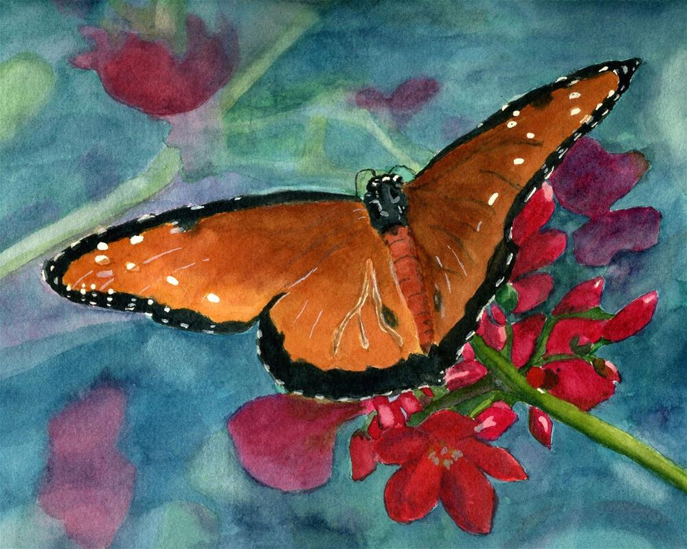 """Papillion Fandago"" original fine art by Lynne Reichhart"