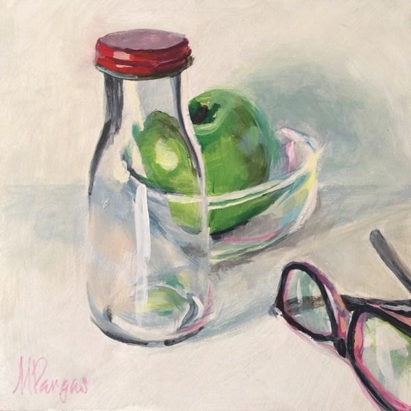 """Glassy Again"" original fine art by Mary Pargas"