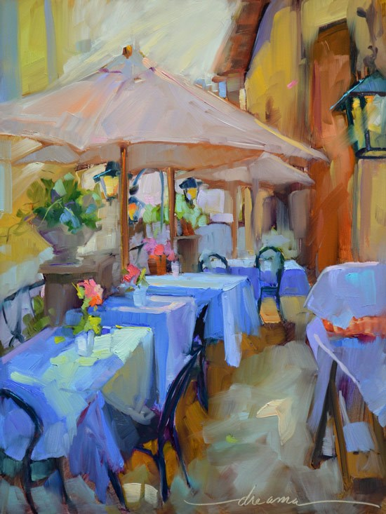 """Italian Blues"" original fine art by Dreama Tolle Perry"