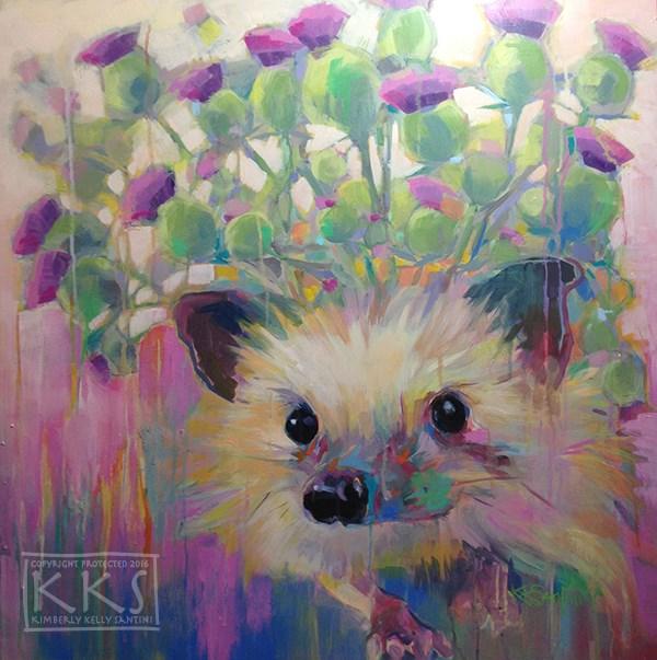 """Thistle"" original fine art by Kimberly Santini"