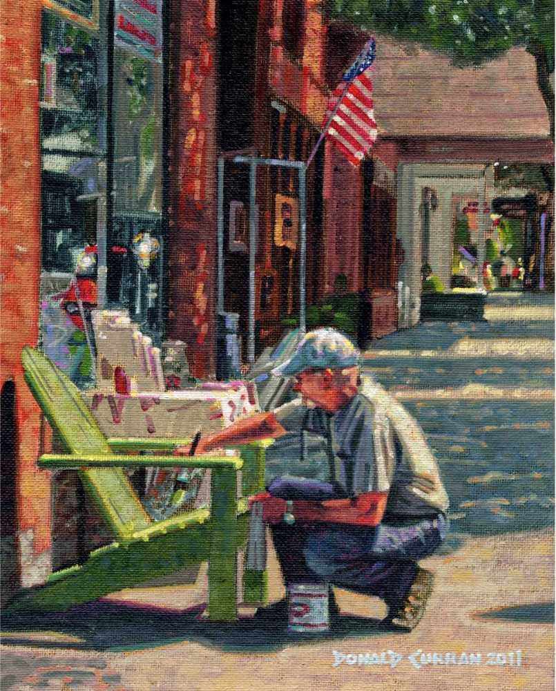 """Fresh Coat of Paint"" original fine art by Donald Curran"