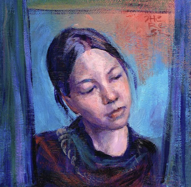 """""""At the Window, Looking Inwards - Theresa Taylor Bayer"""" original fine art by Theresa Taylor Bayer"""