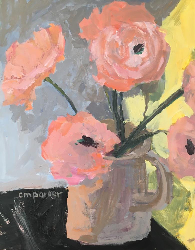 """Flower still life 2/14/16"" original fine art by Christine Parker"