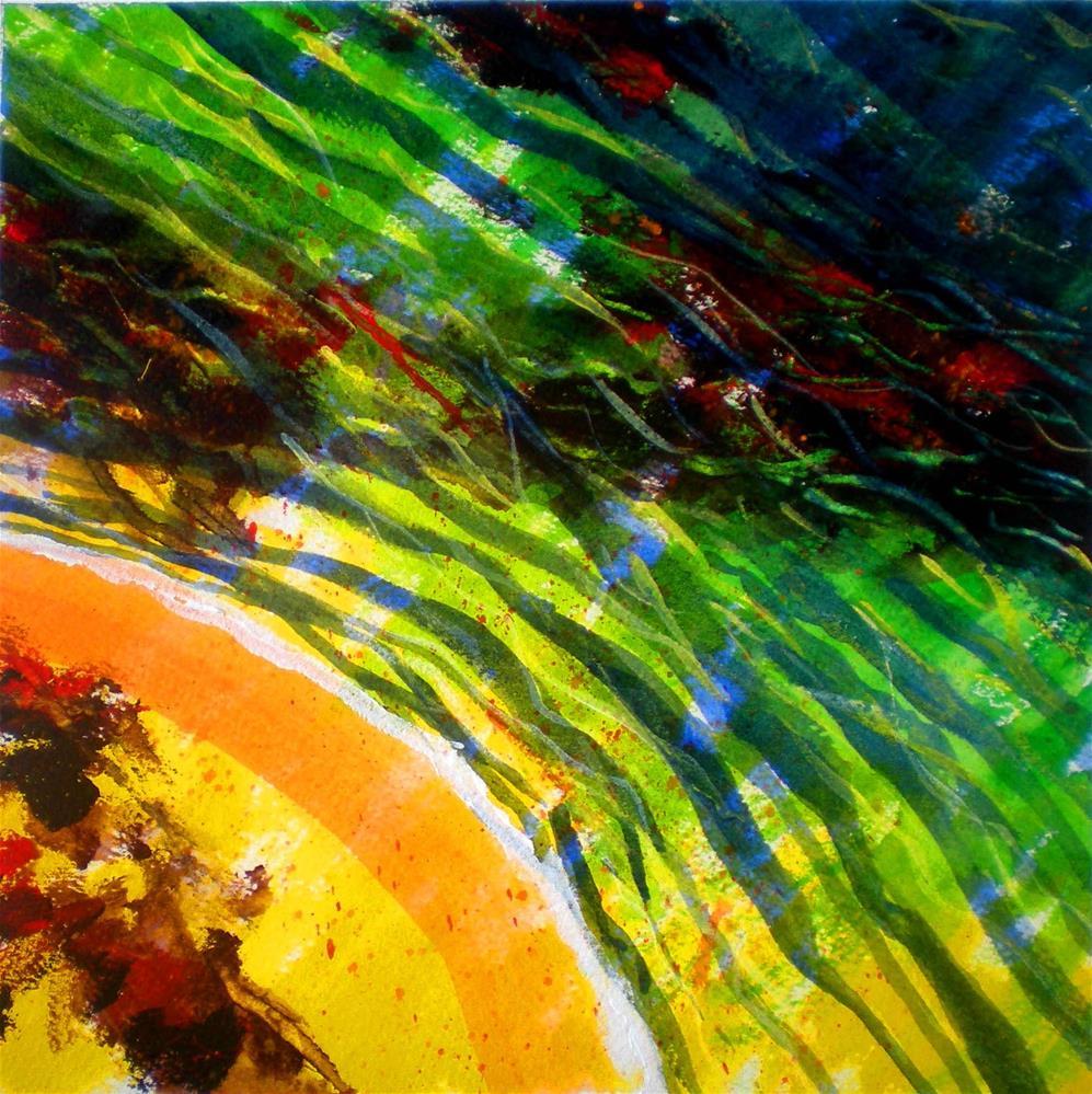"""Liquid Abstract #5 - 150825-5"" original fine art by richard rochkovsky"