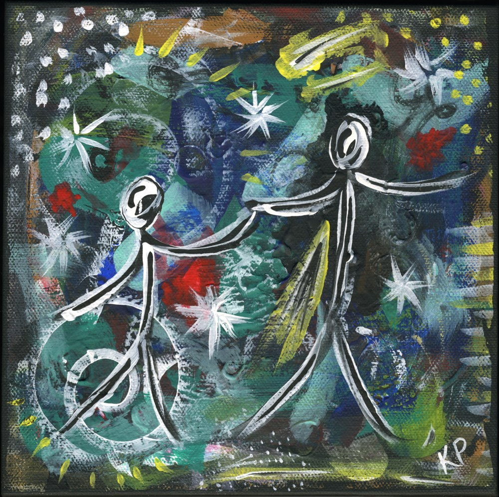 """""""Dancing with the Stars"""" original fine art by Kali Parsons"""