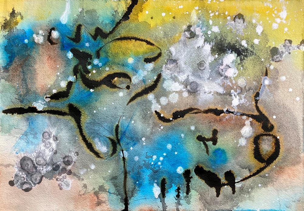 """Wonder and Wisdom"" original fine art by Kali Parsons"